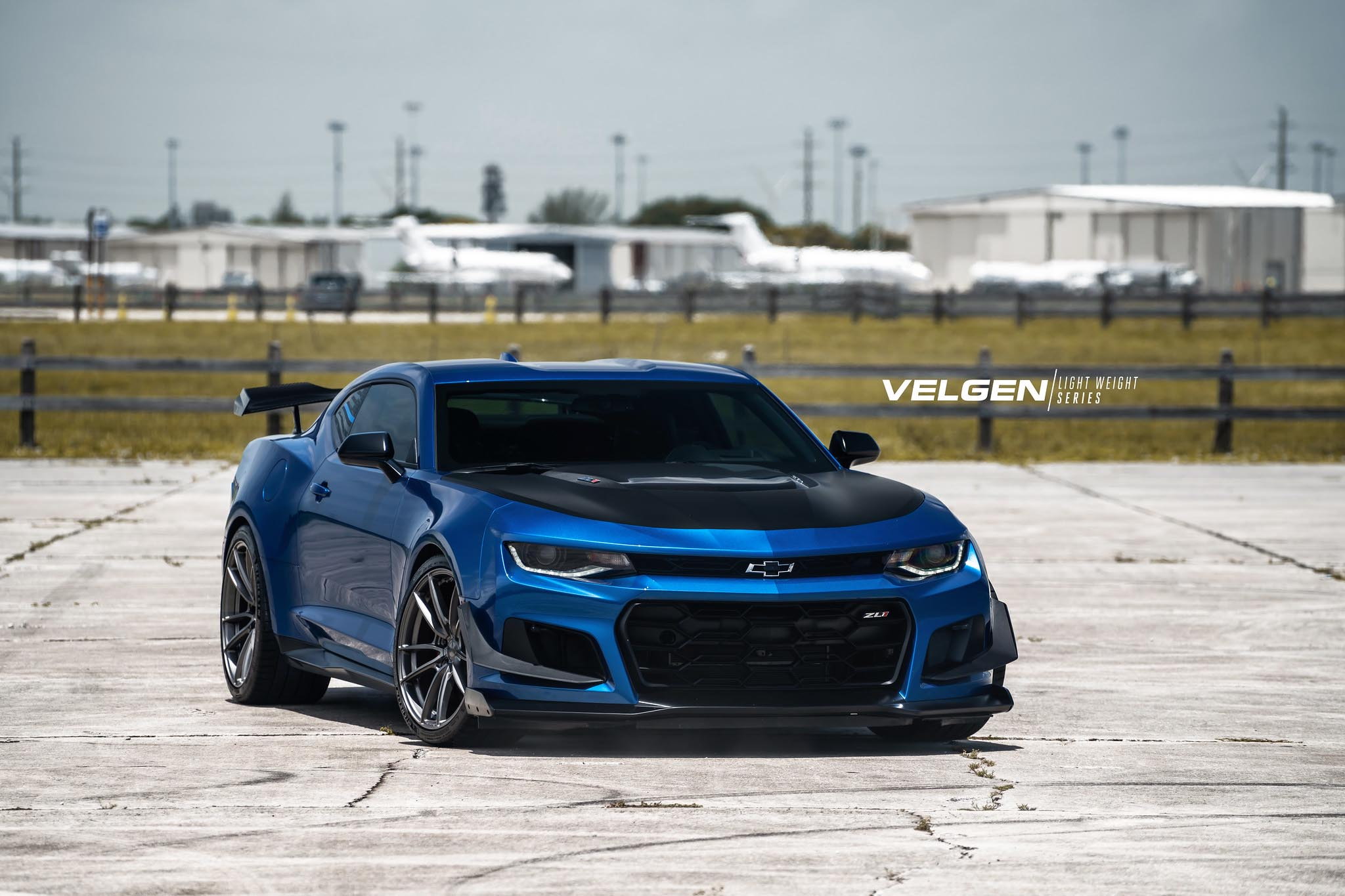 2018 Chevrolet Camaro Zl1 1le 6th Gen Blue With Gloss